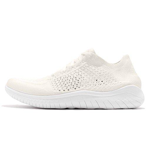 Nike Men's Free RN Flyknit 2018 Sneaker, White White White 103, 13 UK