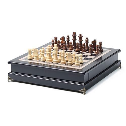 TangMengYun Ajedrez Juego de Tablero de ajedrez de Madera con Piezas de...