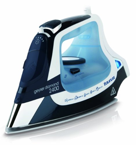 Taurus Geyser Diamond 2400 Plancha GEYSERDIAMOND2400 Vapor MAX.135Gr/min, W, Azul y Blanco