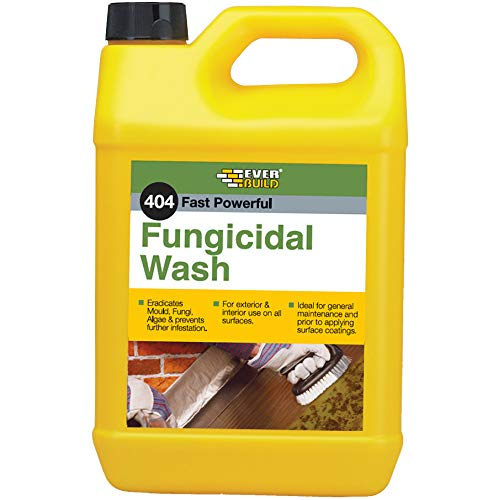 Everbuild EVBFUN5 404 Fast Powerful Fungicidal Wash, 5 Litre
