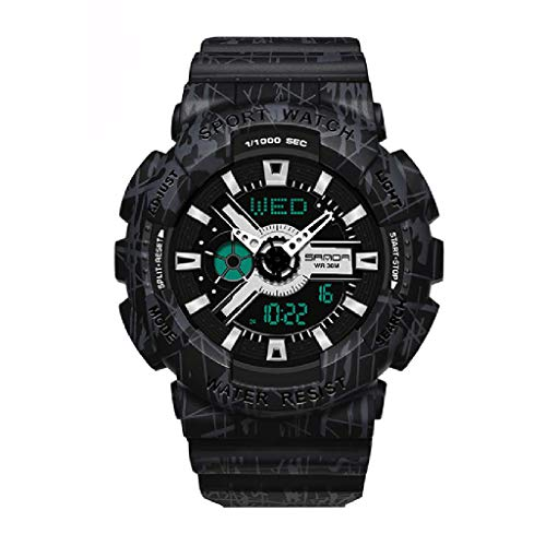 Lvmiao Relojes de Moda para Adolescentes, Relojes Deportivos Impermeables Luminosos, Relojes electrónicos de Pareja, Conjuntos de Relojes Reloj de Relojes de Relojes de Hombre,Woman 1