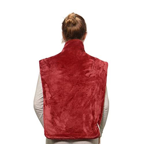 CHJPRO Heizkissen für Rücken Schulter Nacken, 85 x 67cm Elektrisch Wärmekissen Heizdecke,für Entlastung von Rücken und Schultern Heizdecke,Rot