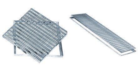 Rejilla galvanizada antitacones, cuadradas y rectangulares de acero galvanizado, todos los tamaños