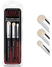The Army Painter | Masterclass: Drybrush Set | Hobby Brush Set in Three sizes for Advanced and Professional Techniques for Tabletop, Boardgames, and Wargames Miniature Painting