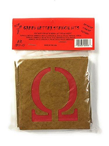 Montsho Publishers Reusable Greek Letter Stencils, (3 Inch)