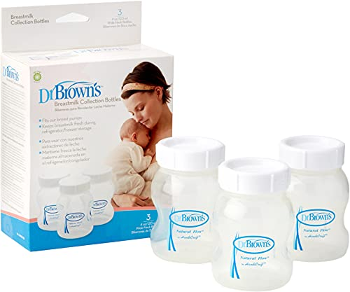 Dr. Brown's 161099.7 - Botellas para almacenamiento de leche materna, 3 unidades