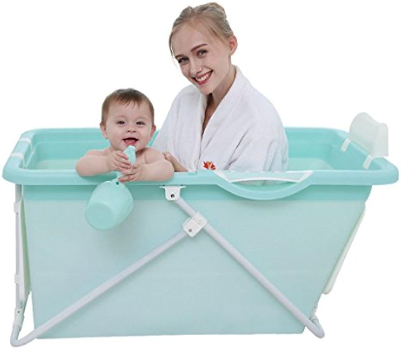 Badewannen mit Belüftung Bidets Kinderfaltenwanne übergroe Badewanne für Erwachsene Babyschwimmbecken Babywanne für Zuhause (Farbe   Blau, Größe   110  59  57cm)