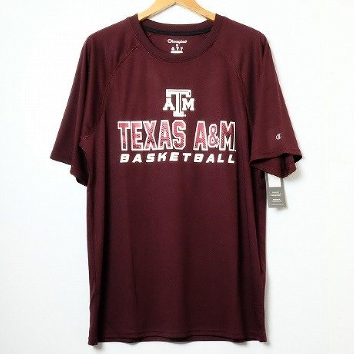 つかまえる模索ランチョンChampion USA 【チャンピオン】?NCAA?S/S-Tshirt カレッジプリント半袖TシャツテキサスA&M大学 バーガンディー