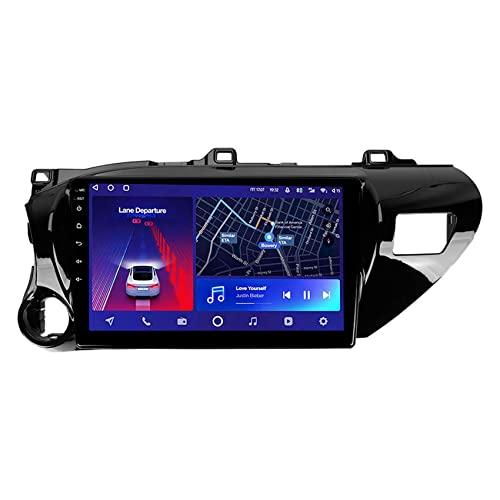 ADMLZQQ Android 10 Radio de Coche para Toyota Hilux Pick Up AN120 2015-2020 estéreo GPS navegación Soporte Bluetooth/Espejo Enlace/ 4G/Control del Volante/Cámara Trasera,8core 4g+wif: 3+ 32g