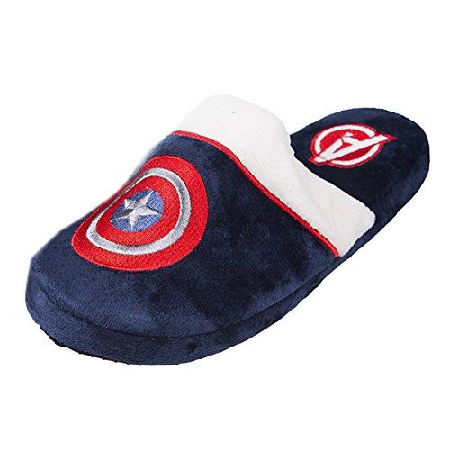 Marvel Ufficiale Comics Capitan America Shield Logo mulo adulto Slip On Pantofole
