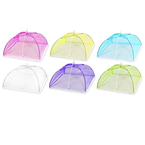 Surenhap Cloche Alimentaire Couverture de Nourriture Pliable de Maille de Pique-Nique de Parapluie de Filet de dôme de Tente de Pliage - Couleur aléatoire