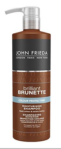 John Frieda Brilliant Champú Morena y Protección Nutrición color castaño 500 ml