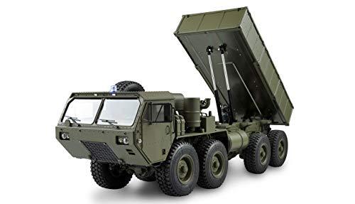 Amewi 22437 U.S. Militär Truck 8x8 Kipper 1:12, ferngesteuertes Militärfahrzeug, Grün