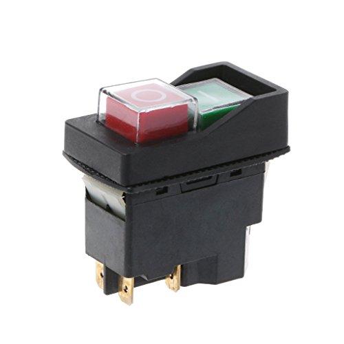 Xuebai Interruptor magnético a Prueba de Agua 220V Interruptores de botón KLD-28A a Prueba de explosiones Interruptor magnético Impermeable Negro