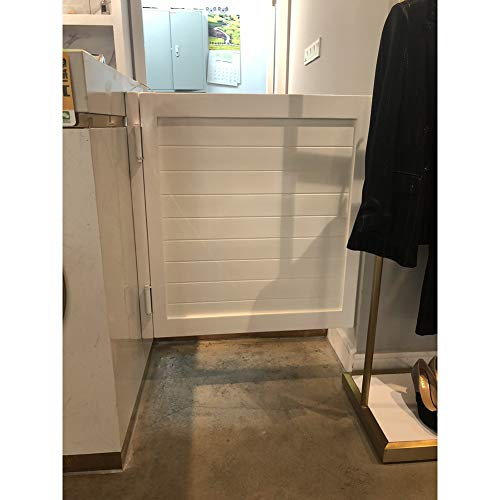 GuoWei Single Saloon Door Swinging Door Cafe Bar Kitchen Pub Counter Use, Pine Wood Made, Support Size Customize (Color : White, Size : 85cmx90cm)
