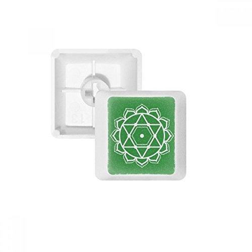 DIYthinker Bloemenpatroon Geometrie Ster Symbool PBT Keycaps voor Mechanisch Toetsenbord Wit OEM Geen Markering Print MultiColor