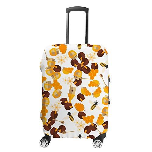 CHEHONG Funda para maleta, funda de equipaje, color marrón y amarillo, funda protectora lavable, fibra de poliéster elástica, a prueba de polvo, se adapta a 45 – 81 cm