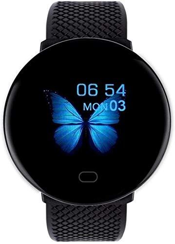 Reloj inteligente para mujer, ritmo cardíaco, presión arterial, reloj inteligente con Bluetooth, pulsera de actividad física, color verde y negro