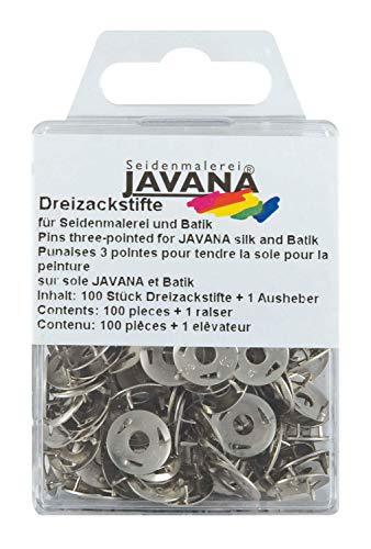 Kreul 810100 - Javana Dreizackstifte für Seidenmalerei und Batik, mit Aufheber zum leichten Entfernen, 100 Stück