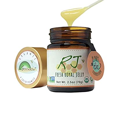 GREENBOW Organic Fresh Royal Jelly - 100% USDA Certified Organic, Pure, Gluten Free, Non-GMO Royal Jelly - One of The Most Nutrition Packed Diet Supplements - Highest Quality Royal Jelly - (70g).
