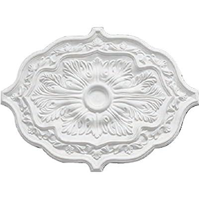 Ekena Millwork CM36X26PEACS Pesaro Ceiling Medallion, Antique Copper