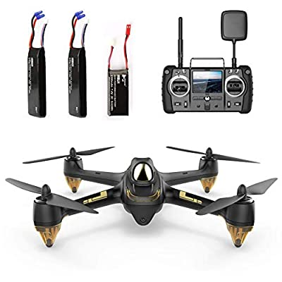 Hubsan H501S X4 Brushless Drone GPS 1080P HD Camera 5.8Ghz FPV 2.4Ghz RC Quadcopter With H906A Transmitter Black Advanced Version by Hubsan