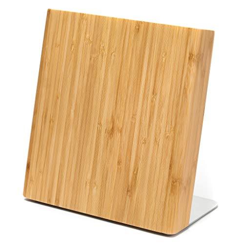 Letalis Bloc à Couteaux magnétique en Bois | Porte Couteaux de cuisine magnétique en Bambou sans Couteau | Parfait pour Une Cuisine ordonnée et structurée