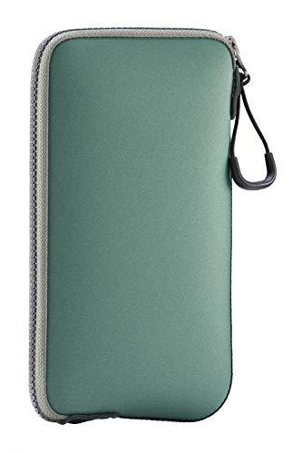 ONEJOY Handytasche, wasserdichte Hülle, Beuteltasche, Sporttasche Mini, Sporttaschen mit Reißverschluss, AJ10-5588, grün mit olivem Reißverschluss, 17 cm x 9 cm, für Handy
