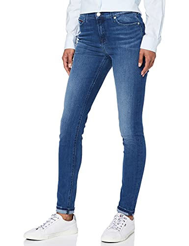 Tommy Jeans Mujer Mid Rise Nora Jeans, Niceville Mid Stretch 916, W24/L32