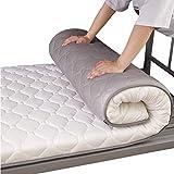L-WWXXZY Espesar Colchoneta Futon, Anti-Slip Acolchado Tatami Futón Topper Respirable Cojín De Colchón Plegable Dormir Siesta Mat para Estudiante-Blanco 1.0 * 1.9m(30x57inch)