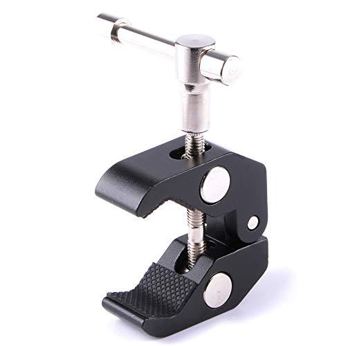 TRIXES Super Klemme - Befestigungselement Einspannklemme Kamerahalterung Clip Kralle für Schreibtisch, Panele, Klemme mit 1/4
