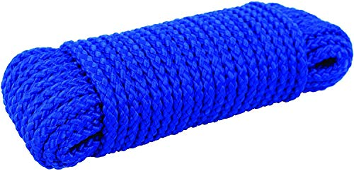 Crafts idea Nylon Outdoor Laundry Clothesline Rope for Drying Clothes,Polypropylene All Purpose Flagline Rope, High Strength, UV Resistant and Excellent Shock Absorption Good for Tie, (Random Colour)