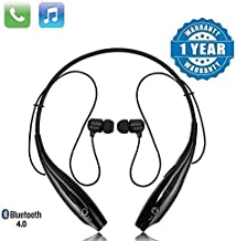 Techfire HBS 730 Wireless Neckband Bluetooth Earphone Headset Earbud Portable Headphone Handsfree Sports Running Sweatproof Compatible Android Smartphone Noise Cancellation Black