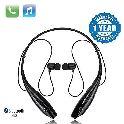 esuav HBS-730 Bluetooth Stereo Sports Headset Compatible with Xiaomi, Lenovo, Apple, Samsung, Sony, Oppo, Gionee, Vivo Smartphones(Multicolour)