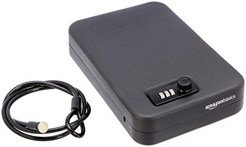 Amazon Basics - Caja fuerte portátil, cerradura de combinación, grande