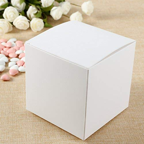 Anladia 50x Laser geschnitten Hochzeit Süßigkeiten Love Heart Favor Candy Geschenke Boxen Box Bonbonniere, 10x10x10cm(NO Tag)