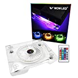 WF Upgrade USB RGB LED Cooler Cooling Fan Stand, Wireless Remote Controller IR, Multi-Color LED Light Accessories for PS4 Playstation 4 Pro, PS4 Slim, Xbox One X, Notebook, Laptop, Gaming Consoles