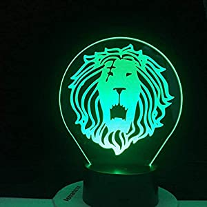 3D Illusion Lamp Led Night Light Escanor Lion Pride Anime The 7 Deadly Kids Bedroom Decoration Colors Table Lamp Bedside