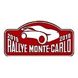 Pegatina Placa Fia WRC Rallye Montecarlo 2019 PR140