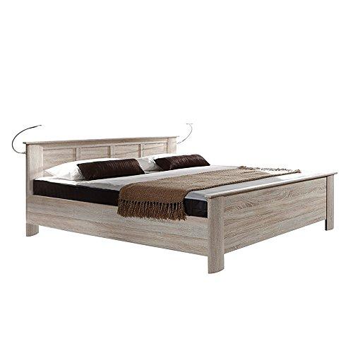 Wimex Bett/ Doppelbett Chalet, Liegefläche 100x200 cm, Eiche Sägerau/ Absetzung Morano Eiche