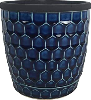Southern Patio 077157 CRM-047070 6 in. Honeycomb Planter44 Cobalt