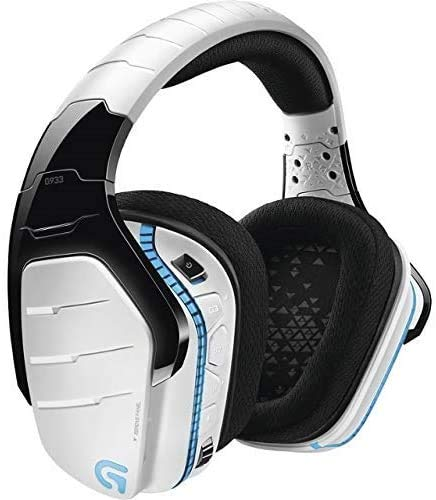 Logitech G933 Artemis Spectrum Snow Wireless 7.1 Gaming Headset, White (Renewed)