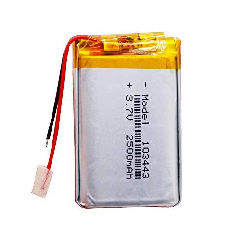 RFGTYH Batería de polímero 3.7V batería de polímero de Litio 103443 2500MAH...