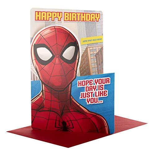 Hallmark - Biglietto Di Auguri Di Compleanno Con Attività Di Spiderman\