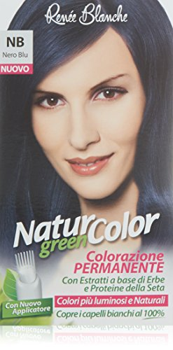 teinture pour les cheveux coloration permanent naturel natur color green noir blu noir blu