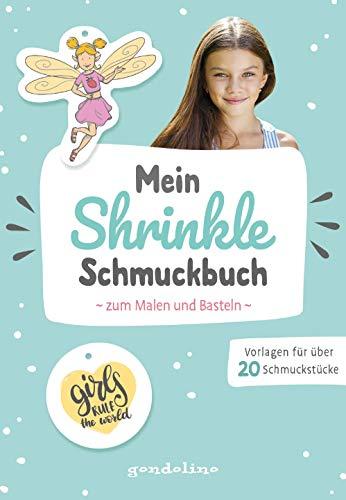 Mein Shrinkle Schmuckbuch zum Malen und Basteln ab 5 Jahre (mint) - DIY: Lieblingsanhänger mit Schrumpffolie selbst anfertigen!