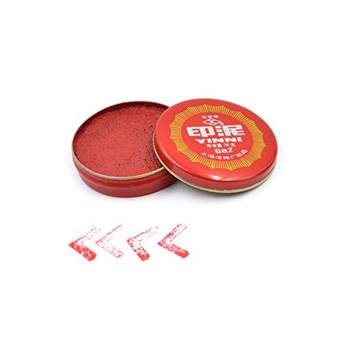 YNuth Rot Tintenpaste Yinni Rund für Kalligraphie Stempel Malen Durchmesser 6cm