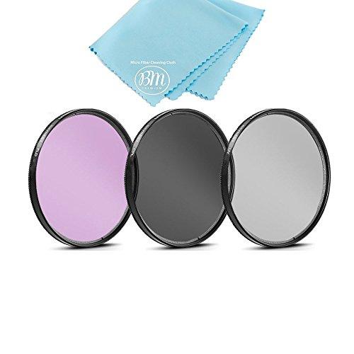 77mm Multi-Coated 3 Piece Filter Kit (UV-CPL-FLD) for Canon EOS R, EOS 6D, EOS 6D Mark II, EOS 5D Mark IV Camera with EF 24-105mm USM Lens