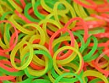 AQBAH Premium Quality Rubber Band for Kitchen, Home, Office, 2 inch, Multicolour - Packet of 50 g