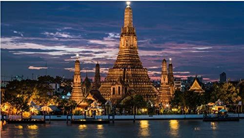 DKMDT Puzzle da 1000 Pezzi Bangkok, Thailandia, attrazione Grande Regalo per Ragazze e Ragazzi